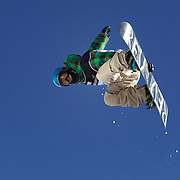 Ayumu Nedefuji, Japan, in action during the Men's Half Pipe Finals in the LG Snowboard FIS World Cup, during the Winter Games at Cardrona, Wanaka, New Zealand, 28th August 2011. Photo Tim Clayton..