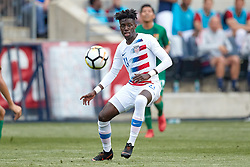 May 28, 2018 - Chester, PA, U.S. - CHESTER, PA - MAY 28: United States midfielder Tim Weah (11) handles the ball during the international friendly match between the United States and Bolivia at the Talen Energy Stadium on May 28, 2018 in Chester, Pennsylvania. (Photo by Robin Alam/Icon Sportswire) (Credit Image: © Robin Alam/Icon SMI via ZUMA Press)