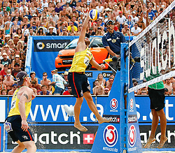07.08.2011, Klagenfurt, Strandbad, AUT, Beachvolleyball World Tour Grand Slam 2011, im Bild Julius Brink (GER), EXPA Pictures © 2011, PhotoCredit: EXPA/ Erwin Scheriau
