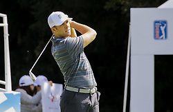 October 20, 2017 - Seogwipo, Jeju Island, South Korea - LUKE LIST of the USA in action on the 1th tee during day two of the CJ Cup Nine Bridge at Nine Bridge CC in Jeju Island, South Korea. List finished round two atop the leaderboard at -9. (Credit Image: © Ryu Seung Il via ZUMA Wire)
