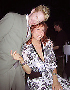 """Seth Green and Mindy Sterling.EXCLUSIVE.""""Austin Powers"""" Post Premiere Party.Universal Studios.Hollywood, CA.July 22, 2002.Photo By Celebrityvibe.com.."""