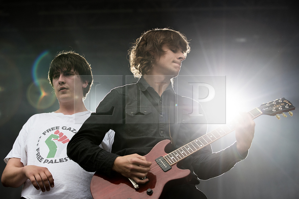 © Licensed to London News Pictures . 27/05/2017 . Manchester , UK . CABBAGE perform . Manchester music line up , featuring Courteeners , Charlatans , Blossoms and Cabbage , at the Emirates Old Trafford Stadium . Photo credit : Joel Goodman/LNP