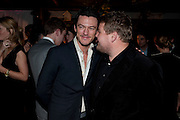 Luke Evans; James Corden, InStyle's Best Of British Talent Party in association with Lancome. Shoreditch HouseLondon. 25 January 2011, -DO NOT ARCHIVE-© Copyright Photograph by Dafydd Jones. 248 Clapham Rd. London SW9 0PZ. Tel 0207 820 0771. www.dafjones.com.