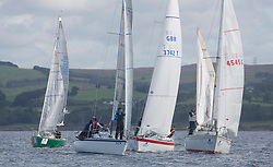 Largs Regatta Festival 2018<br /> <br /> Day 1 - Class 4 start with Lady Ex, Farr e Nuff, In Dreams and <br /> GBR3742T, Radioactivity, Oliver Epsom, CCC, Colvic UFO 27<br /> Images: Marc Turner