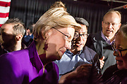 Long Island City, NY – 8 March 2019. Massachusetts Senator and Democratic Presidential candidate Elizabeth Warren drew an enthusiastic crowd at an organizing rally for her 2020 presidential campaign in Long Island City. After her speech, Warren went into the crowd to talk to supporters.