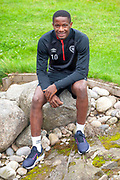 Arnoud Djoum during the Heart of Midlothian pre match press conference ahead of the away match against Motherwell, at Oriam Sports Performance Centre, Riccarton, Scotland on 13 September 2018.