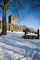 Dispite the chaos and misery the sub zero temperatures that have hit Britain also bring a beauty of thier own.Saint Marys Church Ecclesfield with the old vilage stock in the fore ground 8 Jan 2010 Copyright Paul David Drabble