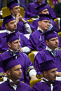 Skolkovo, Russia, 17/09/2011..Graduate students at the awards and fifth anniversary celebrations at Skolkovo Moscow School of Management. The prestige school, which was founded in 2006, is a joint project by major Russian and international business leaders.
