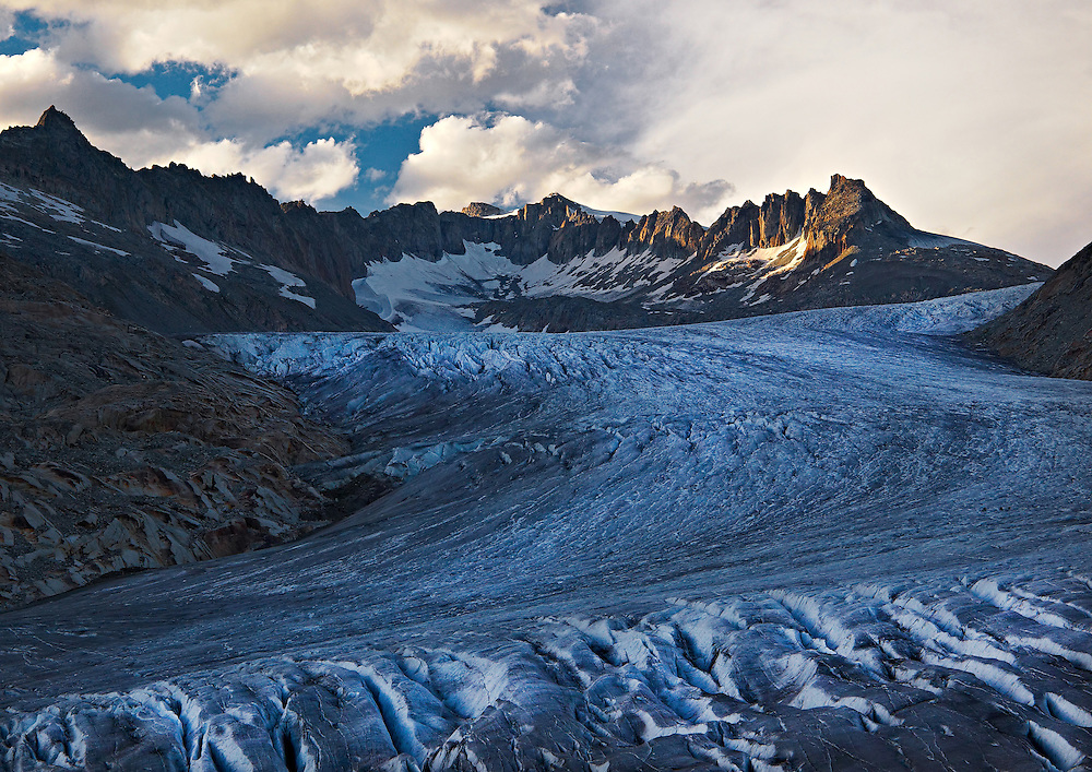 Switzerland - Rhone glacier view