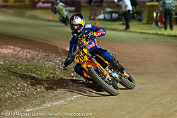 Flattracker Ryan Sipes (AMA264) won the AFT Singles main event on his KTM 450 SX-F racer in the AMA Flat track racing at the Sturgis Buffalo Chip during the Sturgis Black Hills Motorcycle Rally. Sturgis, SD, USA. Sunday, August 4, 2019. Photography ©2019 Michael Lichter.