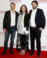 Michael Fassbender, Marion Cotillard & Josh Kurzel, Assassin's Creed - London Photocall, Claridge's, London UK, 08 December 2016, Photo by Brett D. Cove