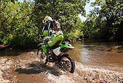 Brad Black on Kawasaki KDX-200  at Crossbar Ranch ORV area in Davis, Oklahoma.