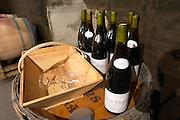 bottles for tasting domaine huguenot p & f marsannay cote de nuits burgundy france