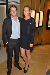 CHARLIE HANBURY and PRINCESS YOANNA OTTO at the draw for the Jaeger-LeCoultre Gold Cup held at Jaeger-LeCoultre, 13 Old Bond Street, London on 8th June 2015.