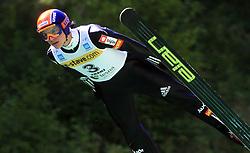 Matej Dobovsek of Slovenia at FIS Continental cup Ski-jumping Summer Kranj, on July 6, 2008, Kranj, Slovenia. (Photo by Vid Ponikvar / Sportal Images)<br /> <br /> / Sportida)