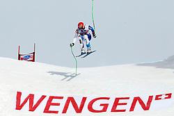 19.01.2013, Lauberhornabfahrt, Wengen, SUI, FIS Weltcup Ski Alpin, Abfahrt, Herren, im Bild Patrick Kueng (SUI) // in action during mens downhillrace of FIS Ski Alpine World Cup at the Lauberhorn downhill course, Wengen, Switzerland on 2013/01/19. EXPA Pictures © 2013, PhotoCredit: EXPA/ Freshfocus/ Gerard Berthoud..***** ATTENTION - for AUT, SLO, CRO, SRB, BIH only *****