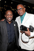 May 10, 2016- New York, NY: United States: (L-R) Visual Artist Hank Willis Thomas and Photographer/Author Jamel Shabazz attend the Aperture Magazine Launch for the Vision & Justice Issue held at the Ford Foundation on May 10, 2016 in New York City.  Aperture, a not-for-profit foundation, connects the photo community and its audiences with the most inspiring work, the sharpest ideas, and with each other—in print, in person, and online. (Terrence Jennings/terrencejennngs.com)