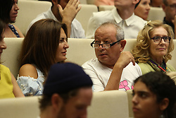 Egyptian billionaire Naguib Sawiris (center) attends a conference by US actor Forest Whitaker (unseen in photo) in El Gouna, Egypt, on September 29, 2017, on the last day of El Gouna Film Festival. Photo by Balkis Press/ABACAPRESS.COM