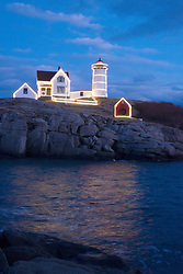 Decorated in Christmas lights, Nubble light is one of the most photographed lighthouses in the northeast.