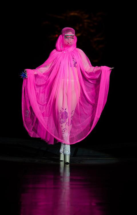 Day3 London Fashion Week 16th September 2012..Lady Gaga on the Philip Treacy  Catwalk..