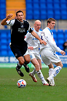 Photo: Paul Greenwood.<br />Tranmere Rovers v Swansea City. Coca Cola League 1. 10/03/2007.<br />Swansea's Pawel Abbott, (L) is fouled by Shaen Sherrif