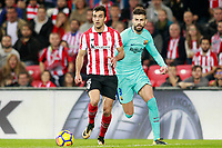 Athletic de Bilbao's Inigo Lekue (l) and FC Barcelona's Gerard Pique during La Liga match. October 28,2017. (ALTERPHOTOS/Acero)