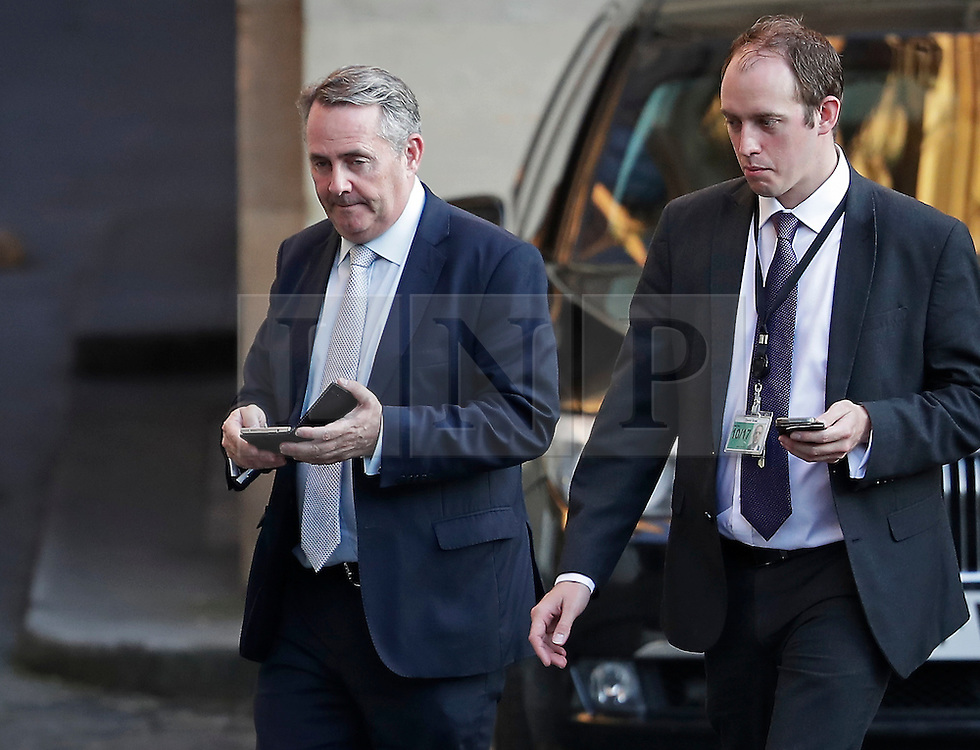 © Licensed to London News Pictures. 05/07/2016. London, UK. Former conservative party leadership candidate DR LIAM FOX is seen leaving the Houses of Parliament in Westminster after he was eliminated at the first round of voting in the Conservative Party leadership race. Photo credit: Peter Macdiarmid/LNP