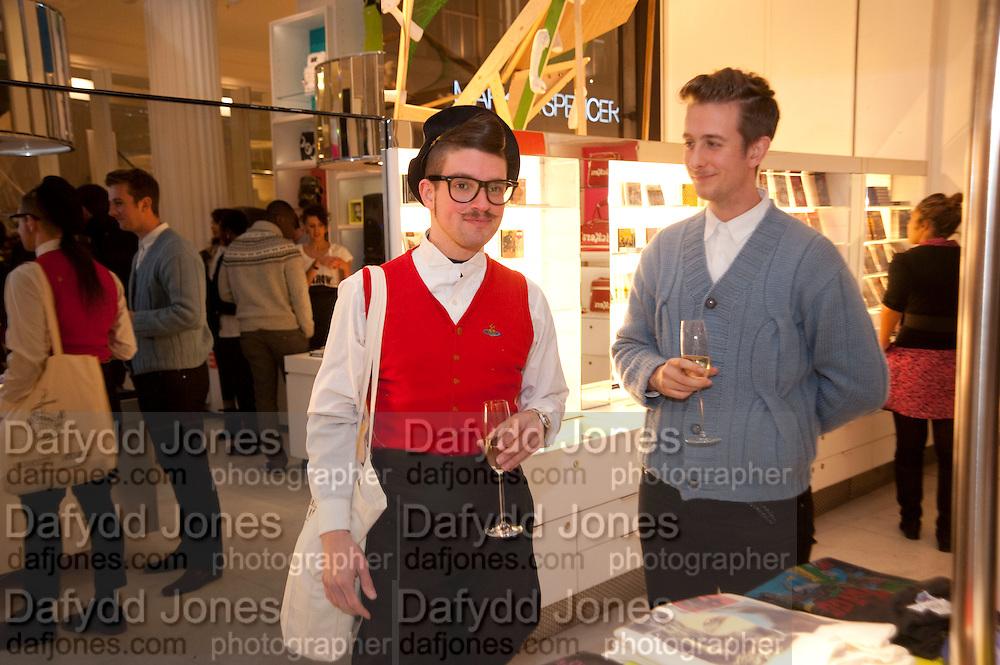 KRISTOFJ VON STRASS; JAMES DYER, The Nineties are Vintage. Concept Store, Rellik and Workit. The Wonder Room. Selfridges. Oxford St. London. 7 January 2010.