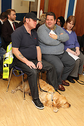 Service users at AGM of Mysight, a charity for people with visual impairments.