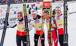 02.03.2019, Seefeld, AUT, FIS Weltmeisterschaften Ski Nordisch, Seefeld 2019, Nordische Kombination, Langlauf, Team Bewerb 4x5 km, im Bild Espen Bjoernstad (NOR), Joergen Graabak (NOR), Jan Schmid (NOR), Jarl Magnus Riiber (NOR) // Espen Bjoernstad of Norway Joergen Graabak of Norway Jan Schmid of Norway Jarl Magnus Riiber of Norway during the Cross Country Team competition 4x5 km of Nordic Combined for the FIS Nordic Ski World Championships 2019. Seefeld, Austria on 2019/03/02. EXPA Pictures © 2019, PhotoCredit: EXPA/ Stefanie Oberhauser