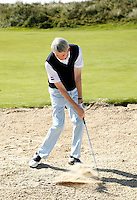 NOORDWIJK - Instructie met golfpro Tom O'Mahoney . Bunker