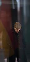 DEU, Deutschland, Germany, Berlin, 22.01.2016: Bundeskanzlerin Dr. Angela Merkel (CDU) wartet auf die Ankunft des türkischen Ministerpräsidenten im Bundeskanzleramt.