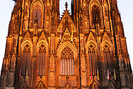 the west facade of the cathedral, Cologne, Germany.<br /> <br /> die Westfassade des Doms, Koeln, Deutschland.