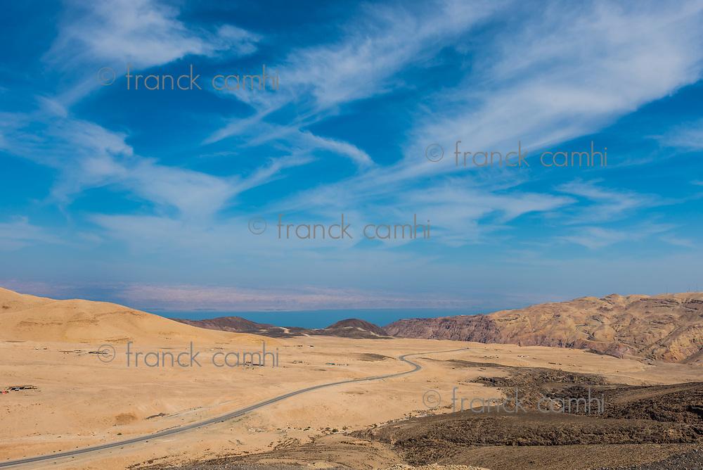 kings way desert road Dead Sea in Jordan