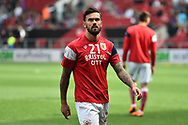 Marlon Pack (21) of Bristol City warming up before the EFL Sky Bet Championship match between Bristol City and Hull City at Ashton Gate, Bristol, England on 21 April 2018. Picture by Graham Hunt.