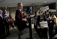 Susan Wild, Democratic candidate for Pennsylvania's new 7th Congressional District, celebrates a victory in the race during an Election Night event Nov. 6, 2018, at Coca-Cola Park in Allentown, Pennsylvania.