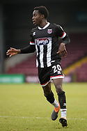 Grimsby Town Jay Matete (20) full length portrait during the EFL Sky Bet League 2 match between Scunthorpe United and Grimsby Town FC at the Sands Venue Stadium, Scunthorpe, England on 23 January 2021.
