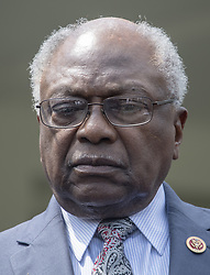 April 30, 2019 - Washington, District of Columbia, U.S. - United States House Assistant Democratic Leader James Clyburn (Democrat of South Carolina) listens as Democratic members of the US House and Senate speak to reporters at the White House in Washington, DC after meeting with US President Donald J. Trump on April 30, 2019.  Lujan serves as assistant speaker and recently announced he is running for the US Senate from New Mexico in the 2020 election  (Credit Image: © Ron Sachs/CNP via ZUMA Wire)
