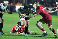 Rugby Union - 2017 / 2018 European Rugby Champions Cup: Scarlets vs. RC Toulonnaise<br /> <br /> Guilhem Guirado, of Toulon attacks , at Parc y Scarlets, Llanelli.<br /> <br /> COLORSPORT/WINSTON BYNORTH