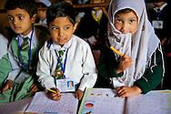 Three students of a Muslim class.