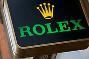 Sign for Rolex watches.