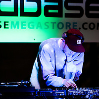 DJ mixing in the dance tent at Beached 2012, Castlefields Arena, Manchester, 2012-06-02