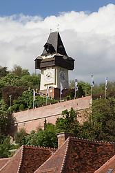 06.05.2010, Schlossberg, Graz, AUT, Sujet, im Bild der Uhrturm als Wahrzeichen von Graz am Schloßberg vom Hauptplatz aus, EXPA Pictures © 2010, PhotoCredit: EXPA/ Erwin Scheriau
