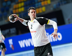 14.01.2021, 6th of October Sports Hall, Gizeh, EGY, IHF WM 2021, Österreich vs Schweiz, Herren, Gruppe E, im Bild Andy Schmid, // during the IHF men's World Championship group E match between Austria and Switzerland at the 6th of October Sports Hall in Gizeh, Egypt on 2021/01/14. EXPA Pictures © 2020, PhotoCredit: EXPA/ Diener/Eva Manhart<br /> <br /> *****ATTENTION - OUT of AUT and SUI*****