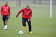 Wales capt Ashley Williams in action. Wales football team training and player media session in Cardiff on Tuesday 19th March 2013.  The team are together ahead of their next two World cup qualifying matches against Scotland and Croatia. pic by Andrew Orchard, Andrew Orchard sports photography,