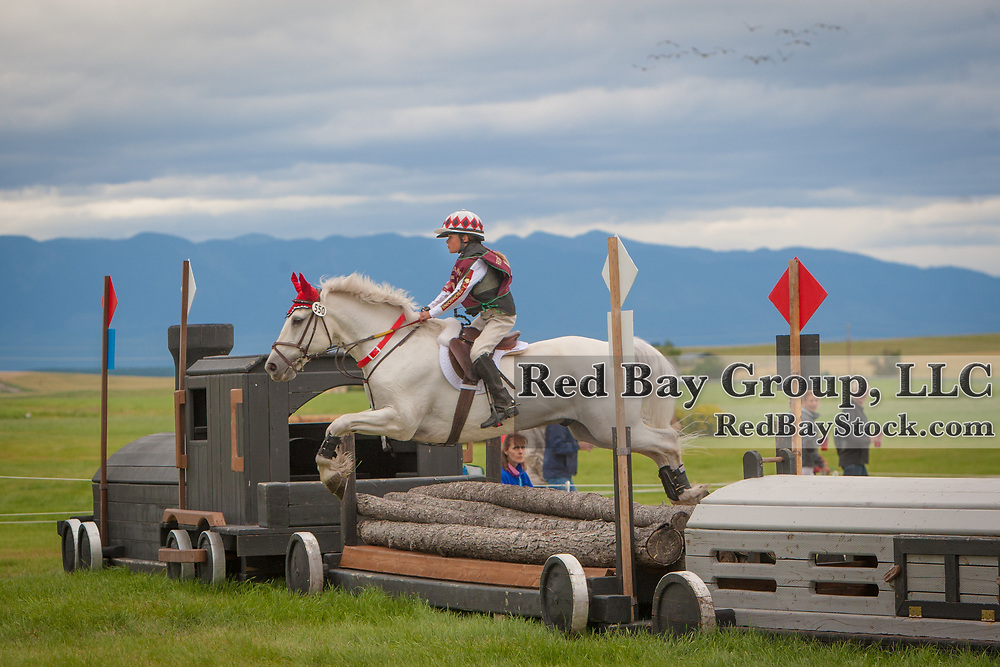 Taylor McFall and Kilbarry Prince at the 2014 The Event at Rebecca Farm in Kalispell, Montana.