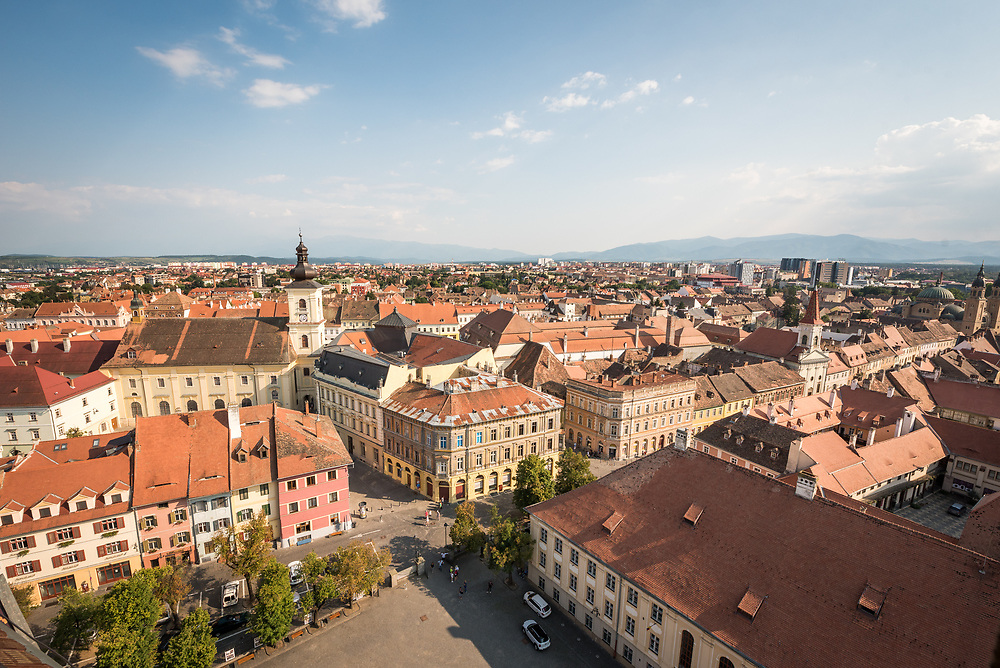 19 August 2017, Sibiu, Romania: Gathering in Sibiu, Romania, the World Council of Churches youth commission ECHOS met on 17-20 August for days of discernment on the position and role of youth in the ecumenical movement today, and to set the future path of the commission, as it journeys on the Pilgrimage of Justice and Peace. On 19 August, the group visited and climbed the tower of the Sibiu Lutheran Cathedral to see the view.