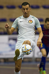 November 22, 2017 - Pescara, PE, Italy - Adil Zouthane of 't Knooppunt in action during the Elite Round of UEFA Futsal Cup 17/18 match between FC Barcelona and ZVV 'T Knoppount at Giovanni Paolo II arena on November 22, 2017 in Pescara, Italy. (Credit Image: © Danilo Di Giovanni/NurPhoto via ZUMA Press)
