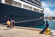Guard at cruise ship dock, Ocho Rios