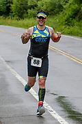 Matthew Tebo during the run segment in the 2018 Hague Endurance Festival Sprint Triathlon